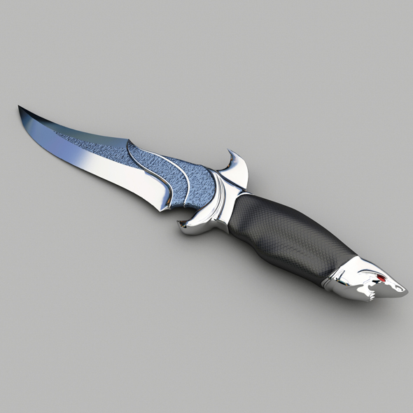 Hunting knife - 3DOcean Item for Sale