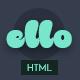 Ello Multipurpose App Landing HTML5 Template