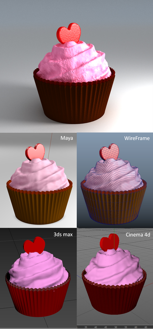 Valentine CupCake - 3DOcean Item for Sale