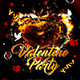Valentine Party Flyer Template 7