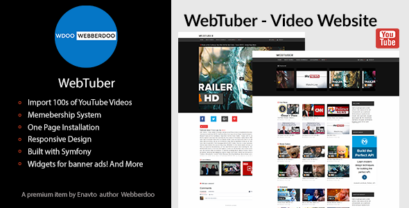 WebTuber - Video Website