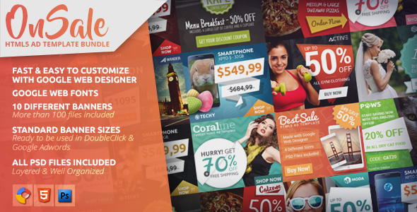 Download OnSale - HTML5 Ad Template Bundle