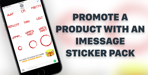 Enhanced iMessage Sticker Pack for iPhone and iPad With Affiliate Linking