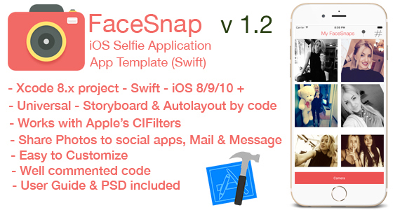 FaceSnap - iOS Selfie Application - CodeCanyon Item for Sale