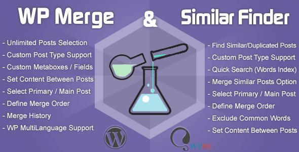 WP Merge + Similar Finder | Optimization & SEO Tool - CodeCanyon Item for Sale