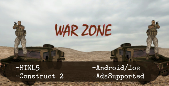 War Zone (HTML5 Game + Construct 2 CAPX) - CodeCanyon Item for Sale