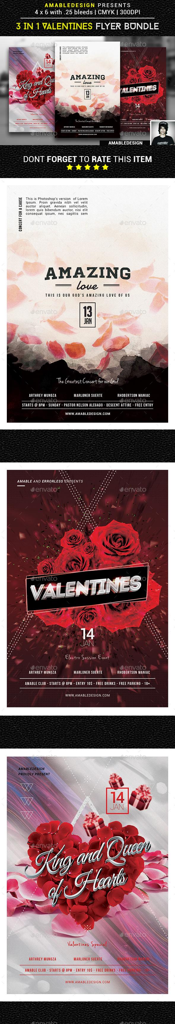 3 in 1 Valentines Flyer Vol.1