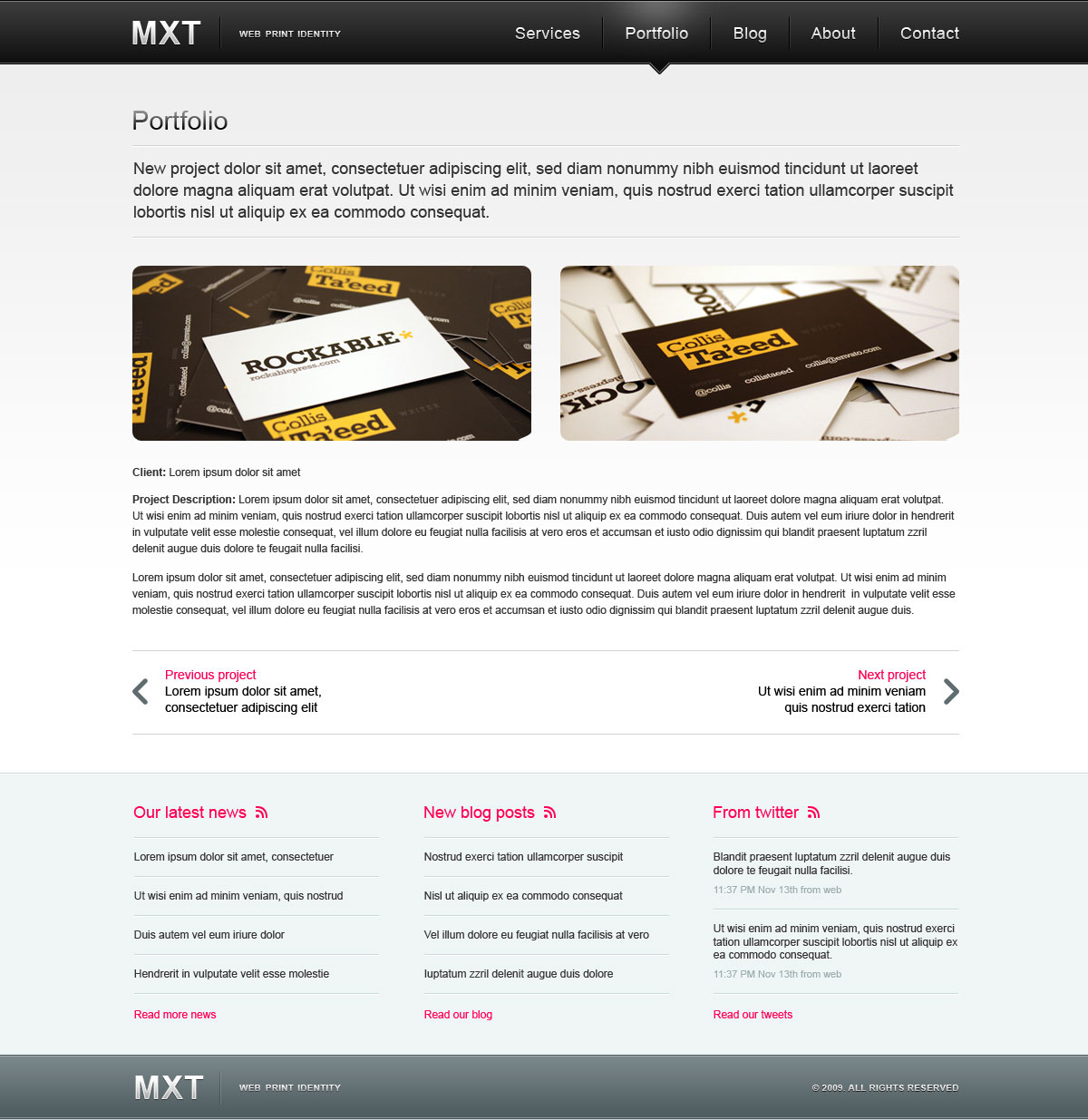 MXT — Business Portfolio Template (PSD)