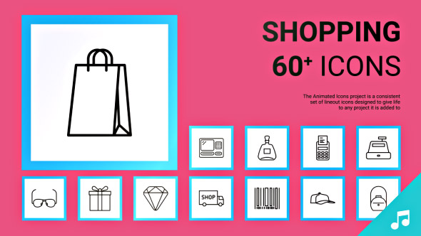 VideoHive Shopping Icons and Elements 19362379