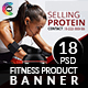 Banners for Fitness Product