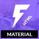 Fugiat - Material Design HTML Template