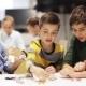 Happy Children Learning at Robotics School 51