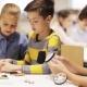 Happy Children Learning at Robotics School 49
