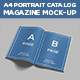 A4 Portrait Catalog & Magazine Mock-Up