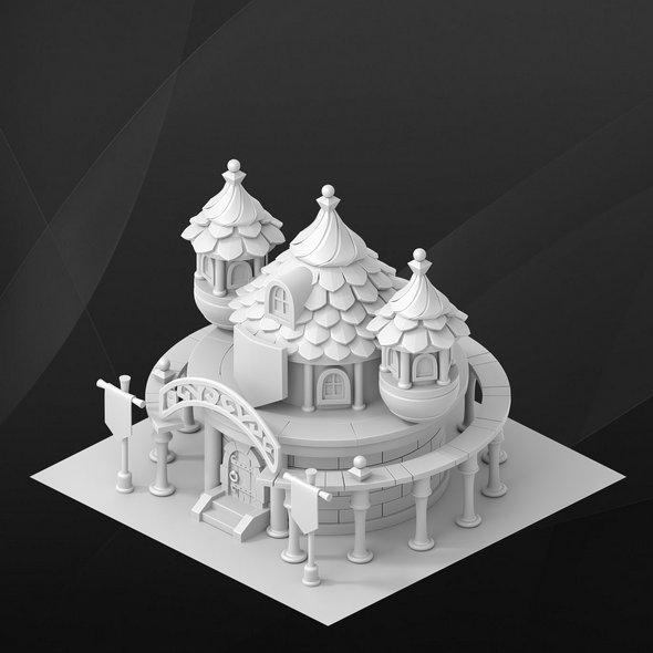 3DOcean Fantasy game house University 19365268