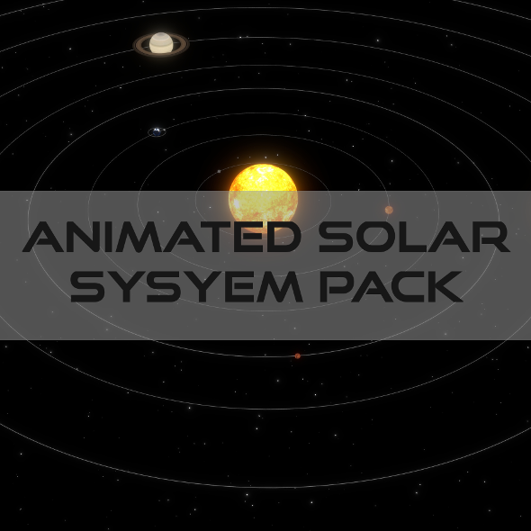 3DOcean Animated Solar System Pack 19365616