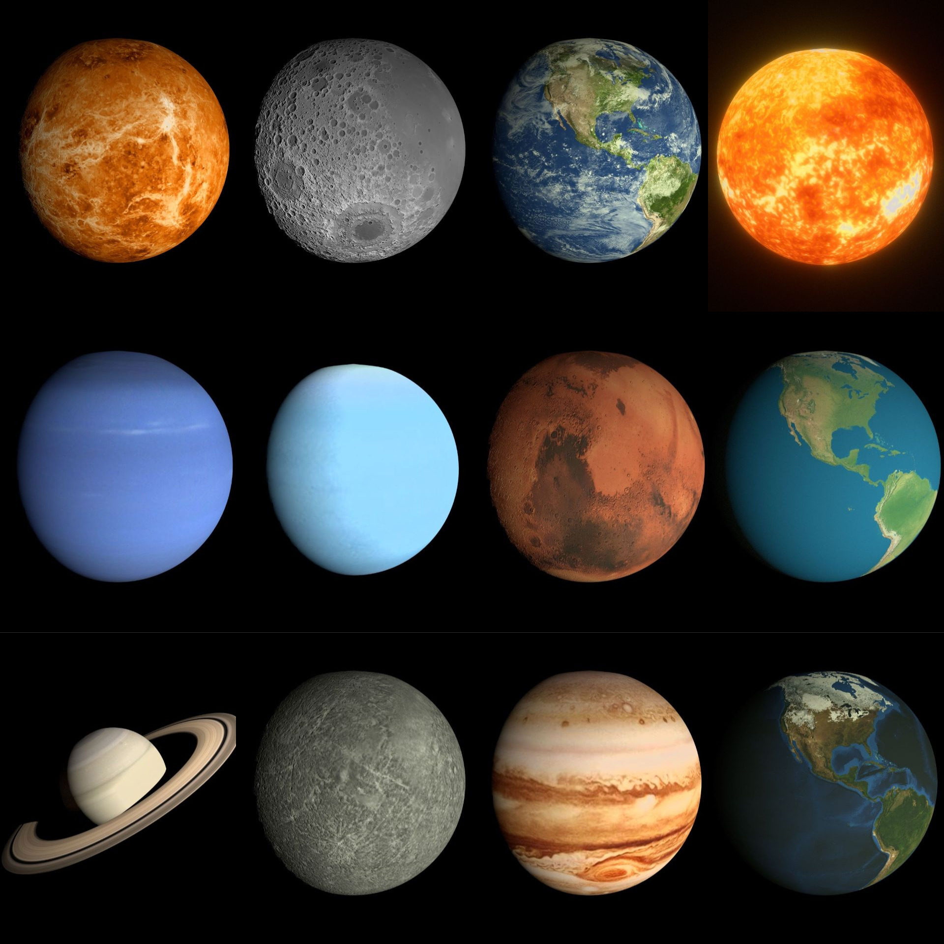 Animated Solar System Pack By Dragosburian 3docean