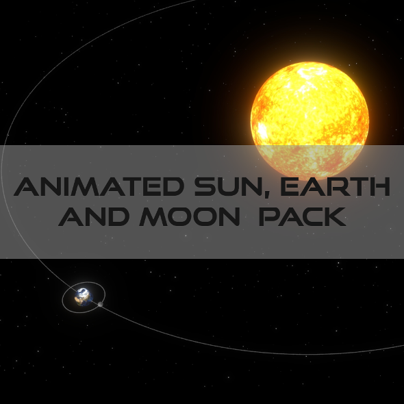 Animated Sun Earth Moon System - 3DOcean Item for Sale