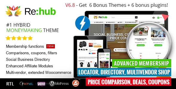 00 preview.  large preview - REHub - Price Comparison, Business Community, Multi Vendor, Directory Theme
