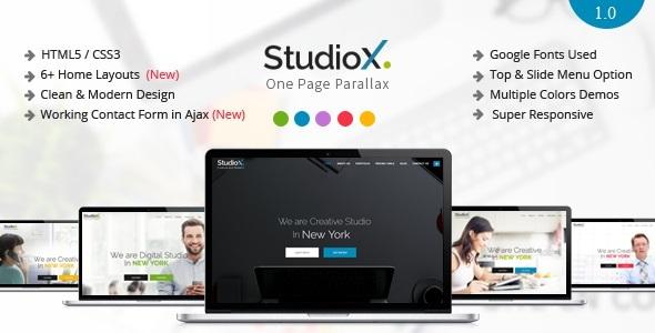 StudioX - One Page Parallax Joomla Template by cmsBlueTheme