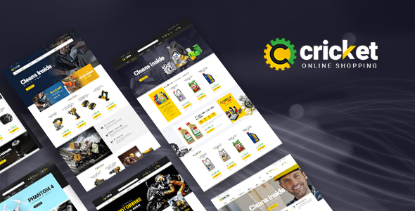 Lexus Cricket - Advanced Opencart Theme for Equipment Mechanic Shop