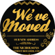 Gold Moving Announcements Card Template