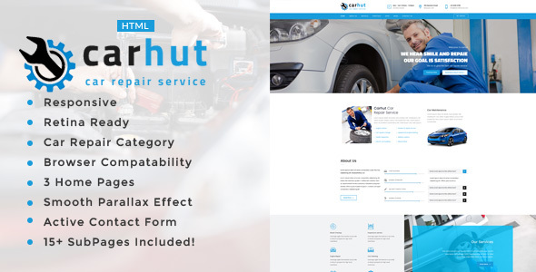 Car Hut || Auto Mechanic & Car Repair Template