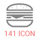 141 Food/Drink/Kitchen Stroke Icons