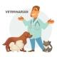 Vector Illustration of a Veterinarian