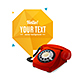 Rotary Telephone with Bubble Speech. Vector