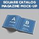 Square Catalog & Magazine Mock-Up
