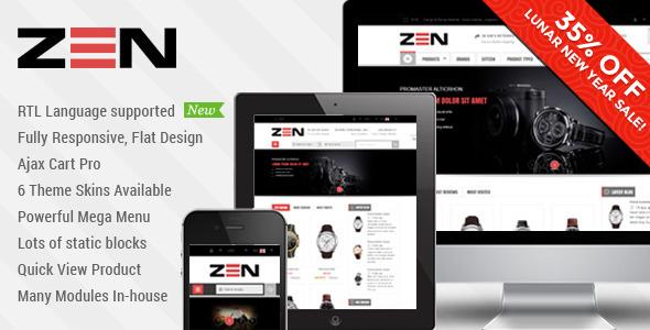 01 sm zen magento theme2.  large preview - SM Zen - Responsive Multi-Store Magento Theme