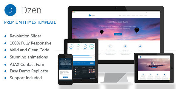 Dzen - Multipurpose Business HTML5 Template