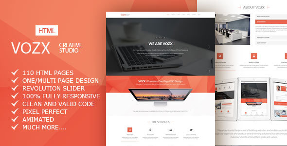 Vozx - Multipurpose Business HTML5 Template