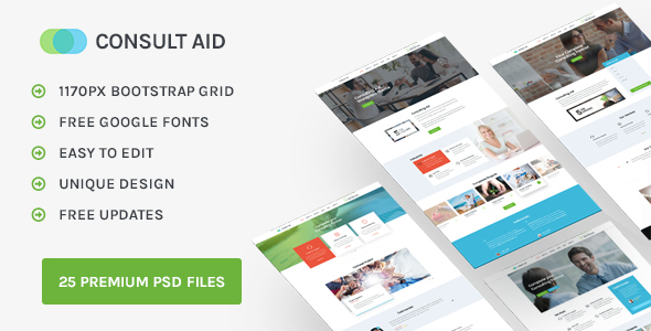 Consult Aid : Business, Consulting, Finance PSD template