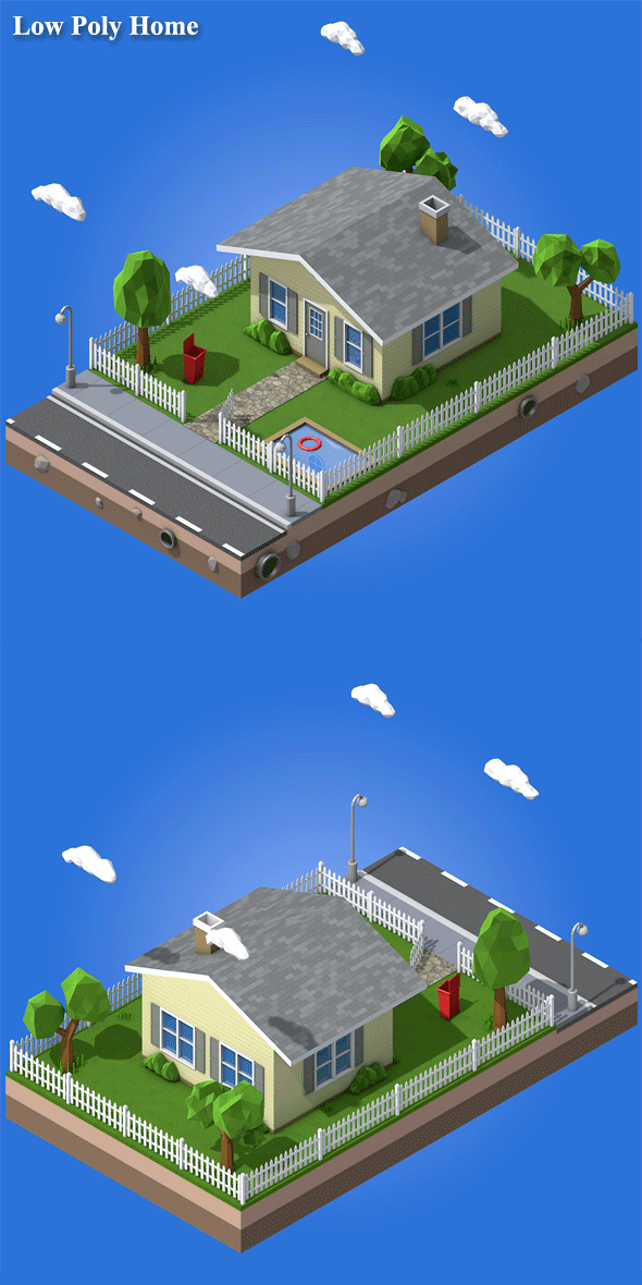 Low Poly Home - 3DOcean Item for Sale