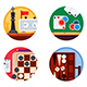Board Games Set of Icons