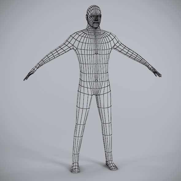 Low Poly Male Mesh - 3DOcean Item for Sale
