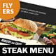 Steak House Menu Flyers – 4 Options