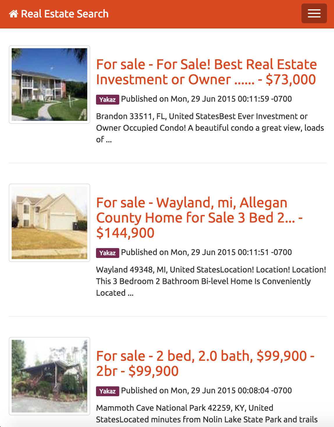 instant real estate search engine by vidal codecanyon instant real estate search engine