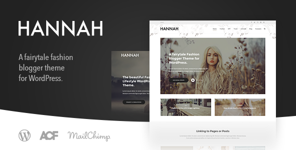 Hannah CD – A Fashion & Lifestyle Blog Theme for WordPress (Personal)