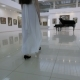 Musical Pianist Walk To Piano in a Concert Hall. Steadycam Shot.