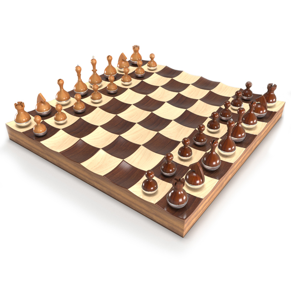 3DOcean Wobble chess set 19371978