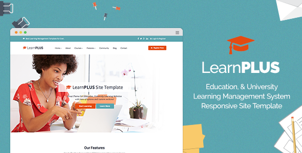LearnPLUS | Education LMS Responsive Site Template