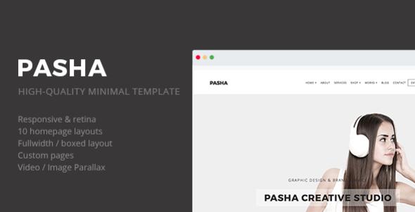 Pasha - Minimal Creative Responsive Site Template