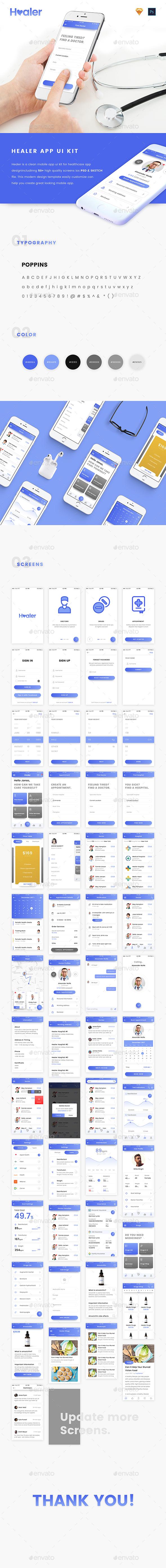 Healer UI Kit (User Interfaces)