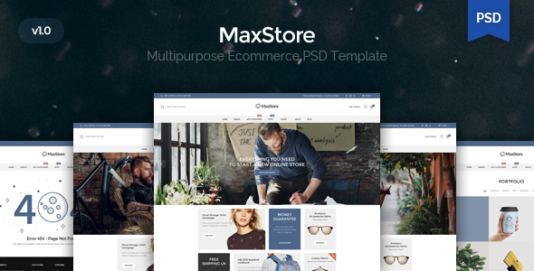 Maxstore - Multpurpose Ecommerce PSD Template