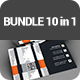 Corporate Business Cards BUNDLE 10 in 1