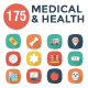 Medical & Health Flat Square Shadow icons