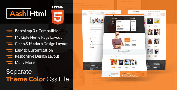 Download Aashi Multipurpose Responsive HTML Template